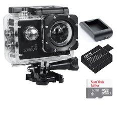 SJCAM SJ4000 Wi-Fi 12MP Model 2016เมนูไทย จอ2.0นิ้ว(Black) (+! Battery+Charger+Sandisk Micro SD Class10 32GB)