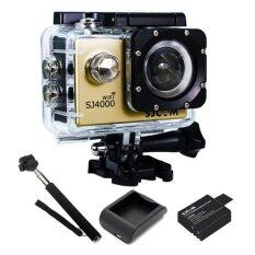 SJCAM SJ4000 Wi-Fi 12MP Model 2016เมนูไทย จอ2.0นิ้ว(Gold) +Battery+Charger+Monopod