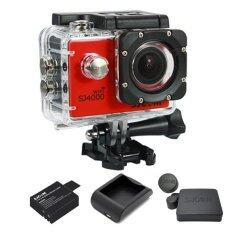 SJCAM SJ4000 Wi-Fi 12MP Model 2016เมนูไทย จอ2.0นิ้ว(Red) (+ Battery+Charger+Cover Lens)