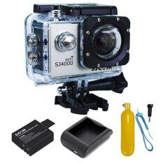 SJCAM SJ4000 Wi-Fi 12MP Model 2016เมนูไทย จอ2.0นิ้ว(Silver) (+ Battery+Charger+Bobber Floatting)