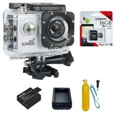 SJCAM SJ4000 Wi-Fi 12MP Model 2016เมนูไทย จอ2.0นิ้ว(White) (+ Battery+Charger+Bobber Floatting+Kingston Micro SD 16GB)