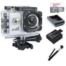 SJCAM SJ4000 Wi-Fi 12MP Model 2016เมนูไทย จอ2.0นิ้ว(White) (+ Battery+Charger+Monopod+Sandisk Micro SD Class10 16GB)