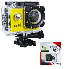 SJCAM SJ4000 Wi-Fi 12MP Model 2016เมนูไทย จอ2.0นิ้ว(Yellow) (+ Kingston Micro SD 16GB)