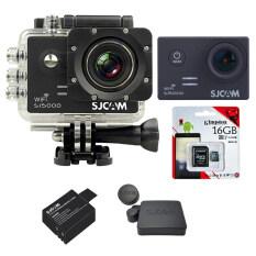 SJCAM Sj5000 WiFi 14MP (Black) +Micro SD Kingston 16GB+Battery+Protective Lens