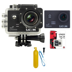SJCAM Sj5000 WiFi 14MP (Black) +Micro SD Kingston 16GB+Bobber Floating