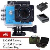 Sjcam Sj5000 Wifi 14Mp Blue Battery Charger Mediumbag ใหม่ล่าสุด