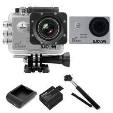 SJCAM Sj5000 WiFi 14MP - Silver (+Battery+Charger+Monopod)