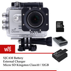 SJCAM Sj5000 WiFi 14MP (Silver) +Micro SD Kingston 32GB+Battery+Charger