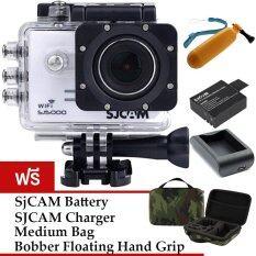 SJCAM Sj5000 WiFi 14MP - White (+Battery+Charger+Bobber+MediumBag)