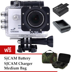 SJCAM Sj5000 WiFi 14MP - White (+Battery+Charger+MediumBag)