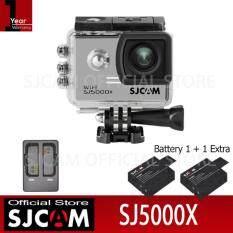 SJCAM SJ5000X Action Camera เมนูไทย จอ2.0นิ้ว กล้องกันน้ำ(Black)+Battery+Dual-Charger