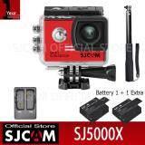ราคา Sjcam Sj5000X Action Camera เมนูไทย จอ2 0นิ้ว กล้องกันน้ำ Black Battery Dual Charger Act Selfie Black Sjcam