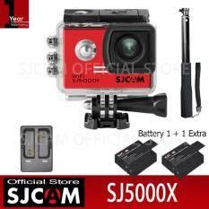 SJCAM SJ5000X Action Camera เมนูไทย จอ2.0นิ้ว กล้องกันน้ำ(Black)+Battery+Dual-Charger+ACT Selfie(Black)