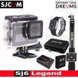 ราคา Sjcam Sj6 Legend 4K 16Mp เมนูไทย Black Battery Dualcharger Bag L Remoteselfie Remoteband ใน ไทย