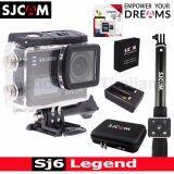 ซื้อ Sjcam Sj6 Legend 4K 16Mp เมนูไทย Black Kingston32Gb Battery Dualcharger Bag L Remoteselfie ถูก ใน ไทย
