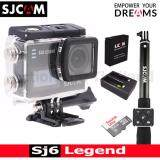 ซื้อ Sjcam Sj6 Legend 4K 16Mp เมนูไทย Black Sandisk 32 Gb Battery Dualcharger Remoteselfie Sjcam ถูก