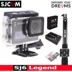 SJCAM SJ6 LEGEND 4K,16Mp เมนูไทย(BLACK)+Sandisk 32 Gb+Battery+DualCharger+RemoteSelfie