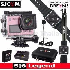 SJCAM SJ6 LEGEND 4K,16Mpเมนูไทย(GOLD)+Battery+DualCharger+BAG(L)+RemoteSelfie+RemoteBand+ExternalMic(Rose Gold)