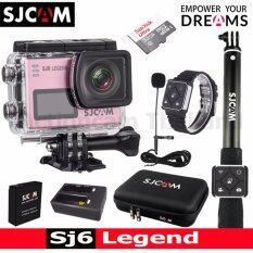 SJCAM SJ6 LEGEND 4K,16Mp เมนูไทย(GOLD)+Sandisk 32 Gb+Battery+DualCharger+BAG(L)+RemoteSelfie+RemoteBand+MicroPhone