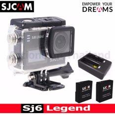 SJCAM SJ6 LEGEND 4K,16Mpเมนูไทย(BLACK) 2x Battery+DualCharger(Black)