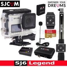 SJCAM SJ6 LEGEND 4K,16Mp เมนูไทย+EX Sandisk 32 Gb+Battery+DualCharger+BAG(L)+RemoteSelfie+RemoteBand+MicroPhone