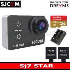 SJCAM SJ7 STAR 4K +Sandisk 32 Gb U3 Extreme x2 Battery+DualCharger