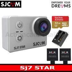 SJCAM SJ7 STAR 4K +Sandisk 32 Gb U3 Extreme x2 Battery+DualCharger