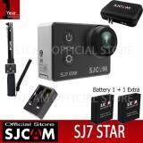 ซื้อ Sjcam Sj7 Star 4K Native 30Fps 16Mp กล้องกันน้ำ Black Battery Dual Charger Bag Remote Selfie Sjcam ถูก
