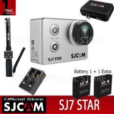 SJCAM SJ7 STAR 4K Native 30fps 16Mp กล้องกันน้ำ (Black)+Battery+Dual-Charger+BAG+Remote Selfie