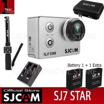 SJCAM SJ7 STAR 4K Native 30fps 16Mp กล้องกันน้ำ (Black)+Battery+Dual-Charger+BAG+Remote Selfie