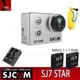 ส่วนลด Sjcam Sj7 Star 4K Native 30Fps 16Mp กล้องกันน้ำ Black Battery Dual Charger Bobber Sjcam ใน Thailand