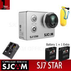 SJCAM SJ7 STAR 4K Native 30fps 16Mp กล้องกันน้ำ (Black)+Battery+Dual-Charger+Bobber