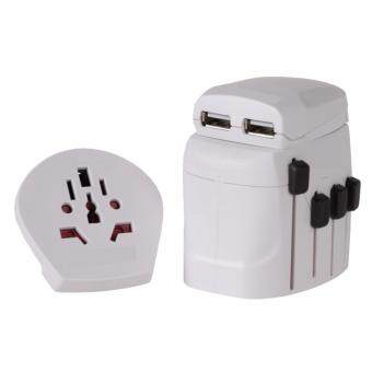 SKORSS หัวแปลงปลั๊ก World Travel Adapter Pro + USB (white)