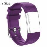 ราคา Small Size Silicone Sports Watch Band Strap Replacement Bracelet For Fitbit Charge 2 Intl เป็นต้นฉบับ