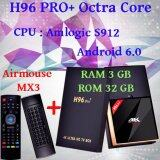 Smart Android Box H96 Pro Plus Ram 3 Gb Rom 32 Gb Octa Core Android 6 Marshmallow Black Airmouse Mx3 ถูก