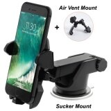 ราคา Smart Phone Car Mount Holder With Quick Release Sucker Long Arm Universal Windshield Dashboard Secure Cell Phone Holder With Adjustable Grips For Iphone 5 7 6S Plus Galaxy S6 S5 Phones 3 6 5Inch Air Vent Mount Intl ใหม่ ถูก