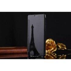 Smart Sleep Mirror Flip Case Cover For Samsung Galaxy Note 5 Black Intl ใหม่ล่าสุด