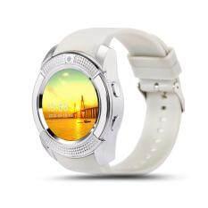 นาฬิกาโทรศัพท์ Smart Watch รุ่น V8 Phone Watch (สีขาว) ฟรี สายMicro USB