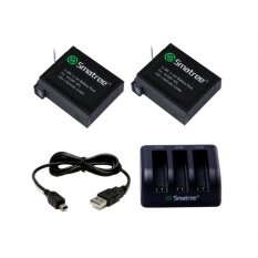 Smatree 3-Channel Charger+2xBatterries for GoPro Hero 4/3+(Warranty 6 month)