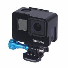 Smatree Aluminum Alloy Protective Housing Frame Mount with Plastic Quick Release Buckle for GoPro Hero 5
