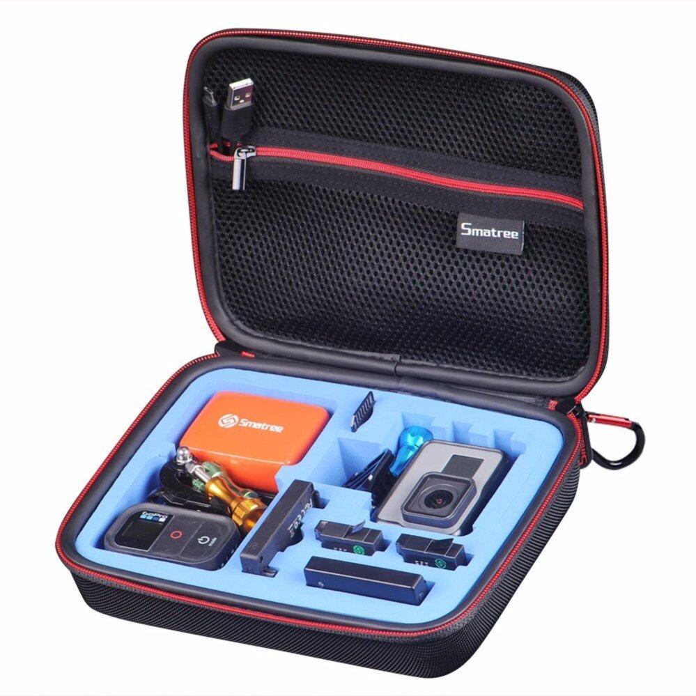 Smatree SmaCase G160s Carrying Case for Gopro Hero 5,4, 3+, 3, 2,1 (Camera and Accessories NOT included)-(Black&Blue)