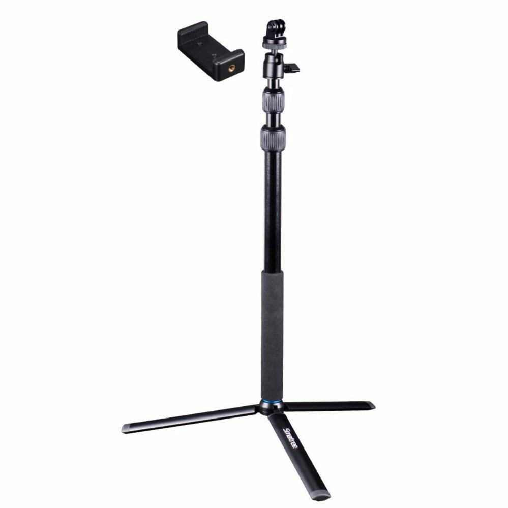 "Smatree SmaPole DC Selfie Stick with Tripod Stand for GoPro Hero 7/6/5/4/3+/3/2/1/Session, Compact Cameras(1/4"" thread), Cell Phones"