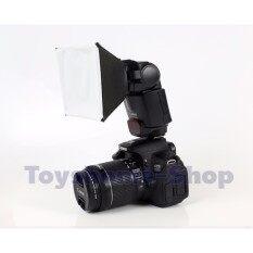 ตัวกระจายแสงแฟลชแบบพกพา Softbox ชุดยิงแฟลชมินิแบบพกพา สำหรับCanon EOS Nikon Olympus Pentax Sony Sigma DSLR
