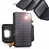 ซื้อ Solar Charger 4 Sun Power Panel Portable Power Bank 12000Mah แบตสำรอง Power Bank พลังงานแสงอาทิตย์ 3 ระบบ กันน้ำได้ Unbranded Generic ถูก