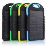 ราคา แบตสำรอง Solar Power Bank พลังงานแสงอาทิตย์ 3 ระบบ กันน้ำได้ Solar Charger ขนาด 5000 Mah สีน้ำเงิน Oemgenuine