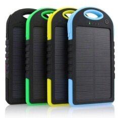 ราคา แบตสำรอง Solar Power Bank พลังงานแสงอาทิตย์ 3 ระบบ กันน้ำได้ Solar Charger ขนาด 5000 Mah สีน้ำเงิน Oemgenuine กรุงเทพมหานคร