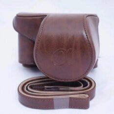 ขาย เคสหนัง กระเป๋าหนัง กระเป๋ากล้องSony A5100 น้ำตาลเข้ม ราคาถูกที่สุด