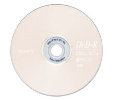 Sony Dvd-R 4.7 Gb 16x ( 50/pack) By Blessing Media.