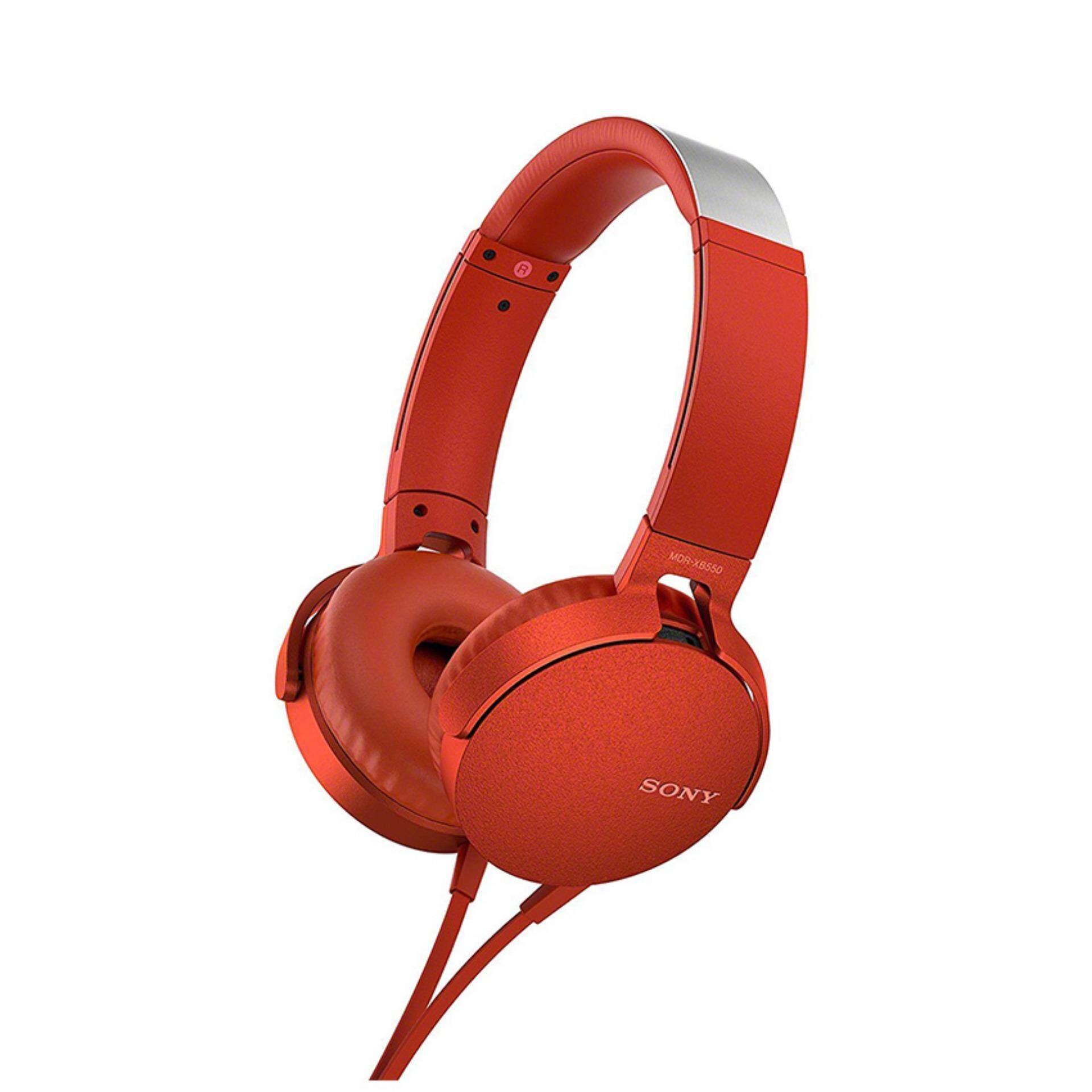 ข้อดีและข้อเสีย Sony หูฟังแบบครอบหู รุ่น MDR-XB550APRCE /Red เสียงดี รุ่นใหม่ 2019