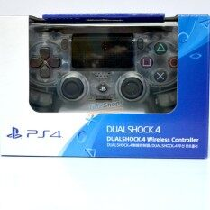sony ps4 dualshock 4 wireless controller crystal ( สีขาวใส )